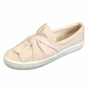 American Eagle peach bow knot slip on sneakers 9